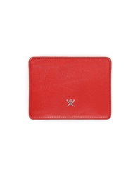 Red Hackett Leather Card Wallet