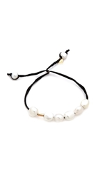 Ginette_Ny Pearl Cotton Bracelet Pearl Noir