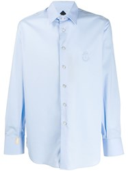Billionaire Classic Embroidered Shirt Blue