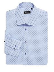 Sand Cotton Printed Dress Shirt Light Blue