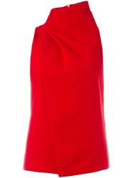 C Meo Sleeveless Wrap Blouse Red