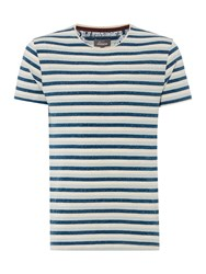 Linea Mathison Three Colour Stripe T Shirt Teal