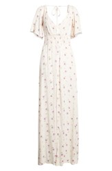 Afrm Tuscany Maxi Dress Lilac Floral