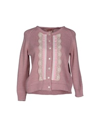 Rose' A Pois Cardigans Pink