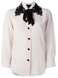 Marc Jacobs Lace Collar Blouse Nude And Neutrals