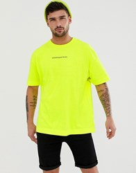 Good For Nothing Oversized T Shirt In Neon Yellow