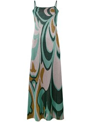 Circus Hotel Patterned Cami Dress Women Polyester Viscose 44 Green