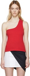 Jacquemus Red Single Shoulder Marcel Top