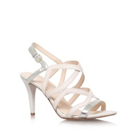 Nine West Intern Wide Fit High Heel Strappy Sandals White