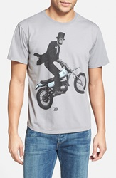 Ames Bros 'Ride Free' Slim Fit T Shirt Wolf Grey