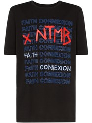 Faith Connexion X Ntmb Logo Cotton T Shirt Black