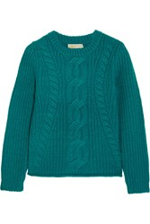 Michael Michael Kors Cable Knit Sweater Green