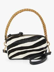 And Or Puebla Leather Cross Body Bag Zebra