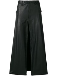 Jean Paul Gaultier Vintage Faux Leather Wide Leg Trousers Black