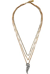 Lulu Frost Rise Gold And Silver Tone Crystal Necklace Metallic