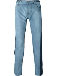 Kenzo Two Tone Jeans Blue