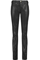 Current Elliott The Leather Rendezvous Leather Skinny Pants Black