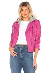 Lamarque Holy Leather Jacket Fuchsia