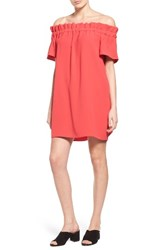 Pleione Women's Off The Shoulder Dress Red Saucy