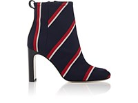 Rag And Bone Women's Ellis Striped Twill Ankle Boots Navy Red White