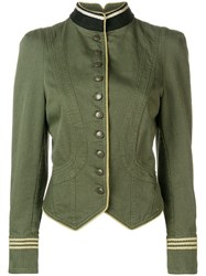 Zadig And Voltaire Lana Military Jacket Green