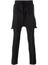 Thom Krom Shorts Overlay Drop Crotch Trousers Black