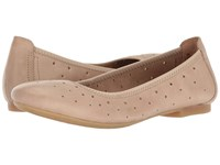 Born Julianne Brown Punched Women's Flat Shoes Neutral
