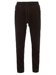 Dolce And Gabbana Dg Logo Patch Cotton Track Pants Black