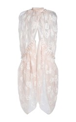Simone Rocha Tinsel Embroidery Cape Pink