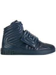 Versace Medusa Head High Tops Blue
