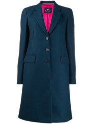 Paul Smith Ps Single Breasted Coat Blue