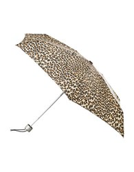 Totes Signature Micro Umbrella Leopard