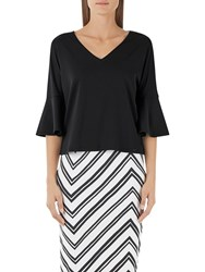 Marc Cain Bell Sleeve Jersey Top Black