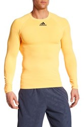 Adidas Techfit Long Sleeve Tee Orange
