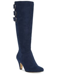 Bella Vita Transit Ii Wide Calf Tall Dress Boots Women's Shoes Navy