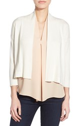 Women's Chaus Open Front Crop Cardigan New Ivory