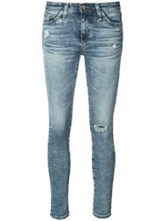 Ag Jeans Distressed Skinny Women Cotton Polyurethane 26 Blue