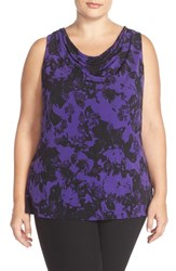 Plus Size Women's Ellen Tracy Drape Neck Top