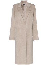 Joseph Signe Oversized Cashmere Coat Nude And Neutrals