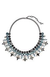 Women's Kent And King 'Drama' Bib Necklace Hematite Black Montana