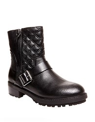 Steve Madden Rivalree Quilted Leather Mid Calf Boots Black
