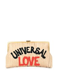 Sarah's Bag Universal Love Clutch Brown