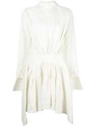 J.W.Anderson Gathered Waist Dress White