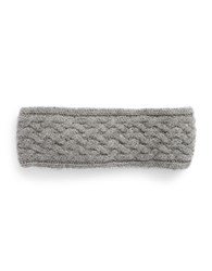 Lord And Taylor Braided Cashmere Headband Grey