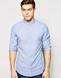 Pull And Bear Pullandbear Long Sleeve Shirt Blue
