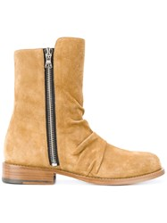 Amiri Zipped Boots Calf Leather Leather Calf Suede Nude Neutrals