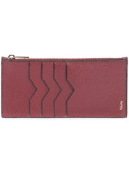 Valextra Card And Coin Purse Unisex Calf Leather One Size Red