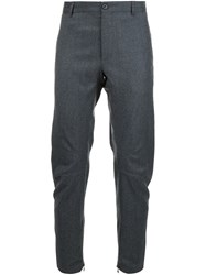Lanvin Ankle Zip Tailored Trousers Grey