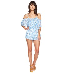 Show Me Your Mumu Quinn Ruffle Romper Mama Blues Women's Jumpsuit And Rompers One Piece