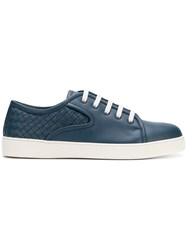 Bottega Veneta Woven Sneakers Blue